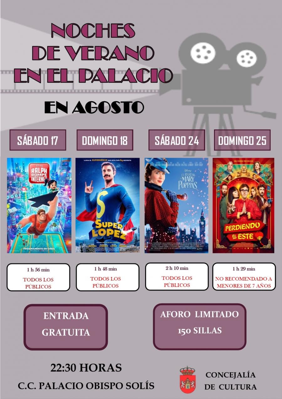 Noches de verano en el Palacio: Cine de verano