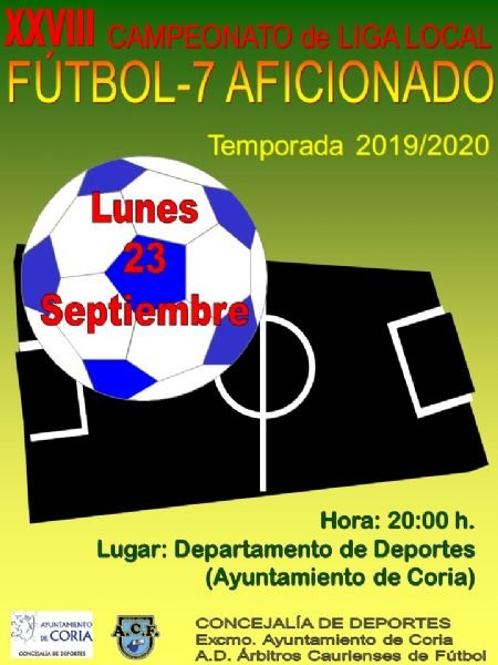 Inscipciones en el XXVIII Campeonato de Liga Local de Fútbol-7  Aficionados