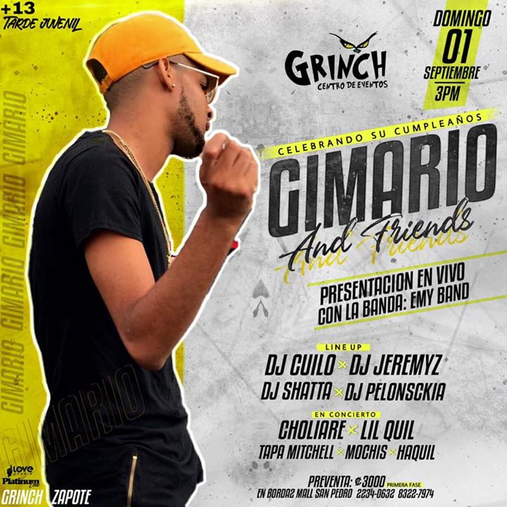 Gimario Birthday Bash | Centro de Eventos El Grinch | Teen Party