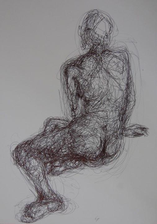 Desenho de Figura Humana com Modelo Vivo