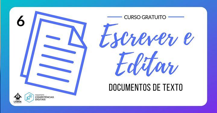 Processamento de texto: Escrever e editar documentos de texto