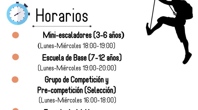 ESCUELAS DE ESCALADA CACERES 2019/2020