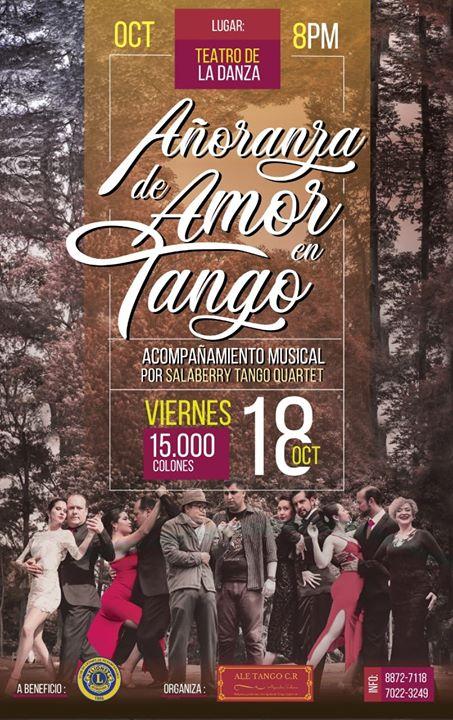 Espectáculo: Añoranza De Amor En Tango