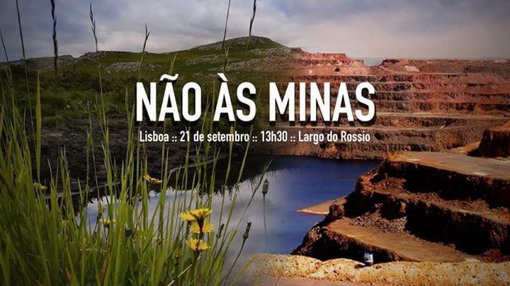 Manifestação contra a febre da mineração em Portugal
