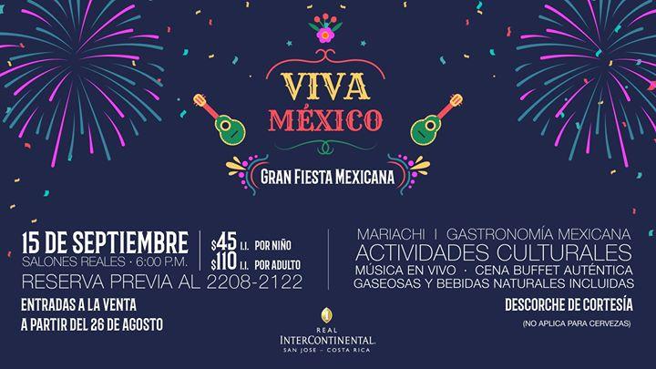 Viva México | Gran Fiesta Mexicana el 15 de septiembre