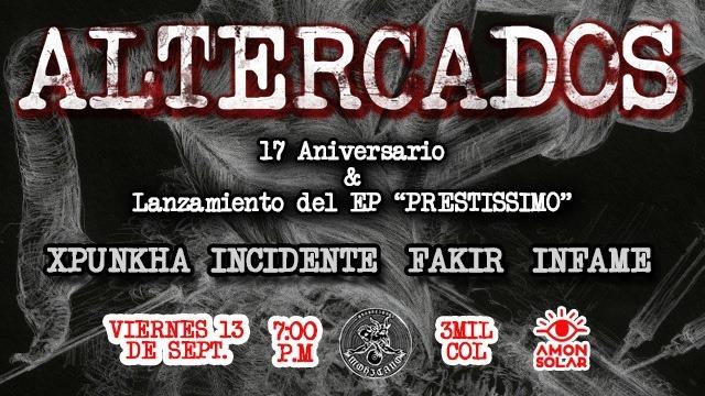 17 Aniversario Y Lanzamiento del EP de Altercados