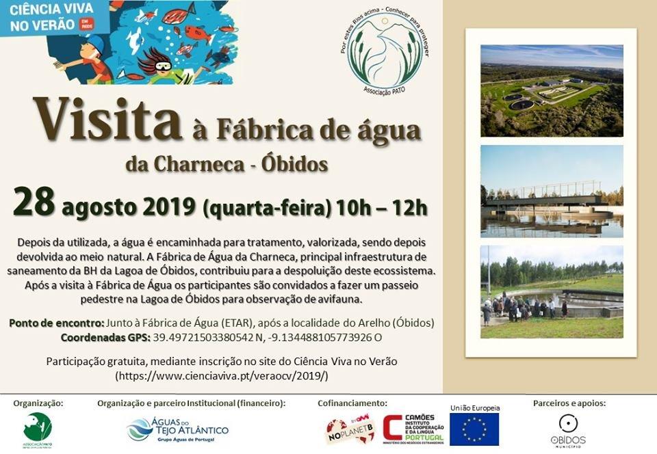 Visita à Fábrica de Água da Charneca | Arelho - Óbidos