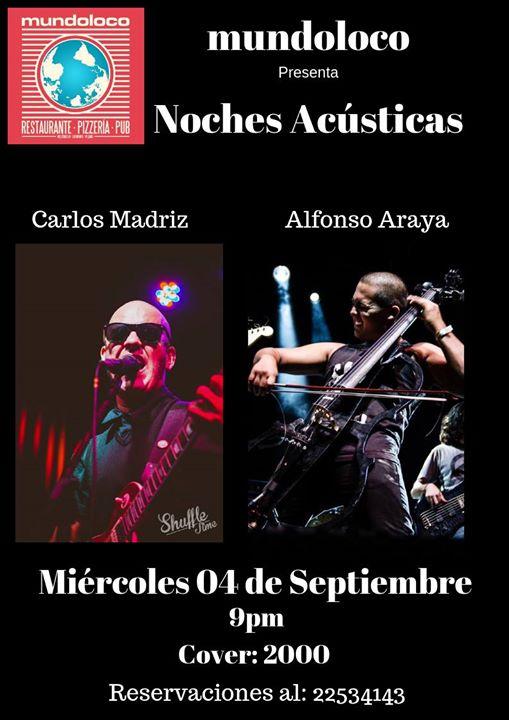 Noches Acústicas: Carlos Madriz y Alfonso Araya