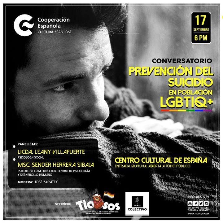 Prevención del suicidio en población lgbtiq+ Costa Rica