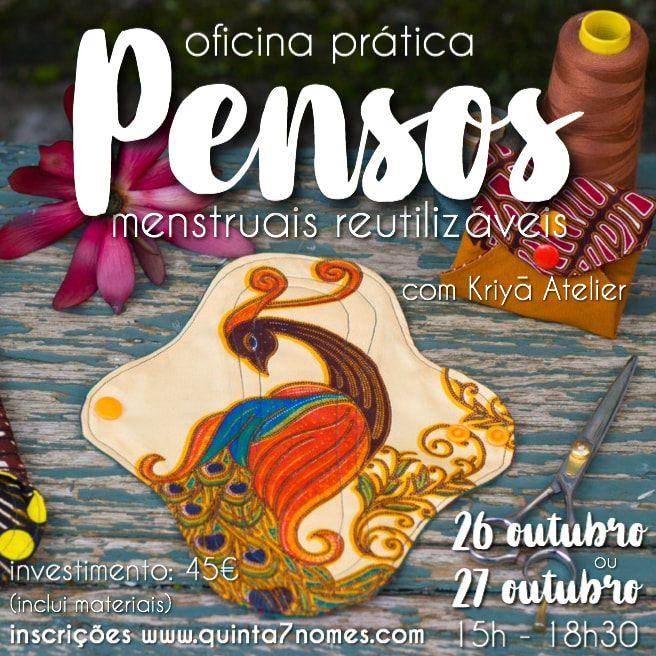 Oficina Prática: Pensos Menstruais Reutilizáveis