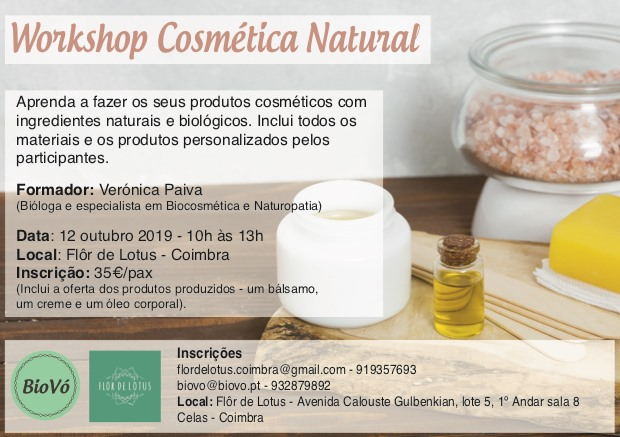 Workshop Cosmética Natural