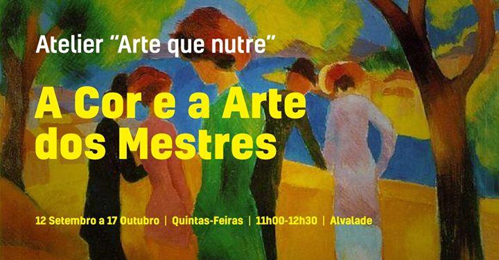 A Cor e a Arte dos Mestres - Atelier de pintura