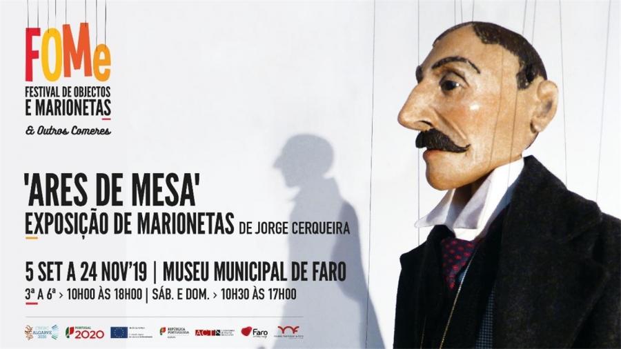 Exposição de Marionetas - 'Ares de Mesa' de Jorge Cerqueira