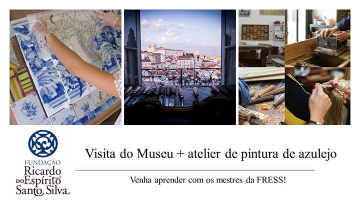 Atelier de pintura de azulejo + Visita do Museu