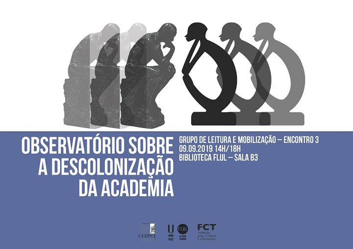 Observatório sobre a descolonização da academia - Encontro 3