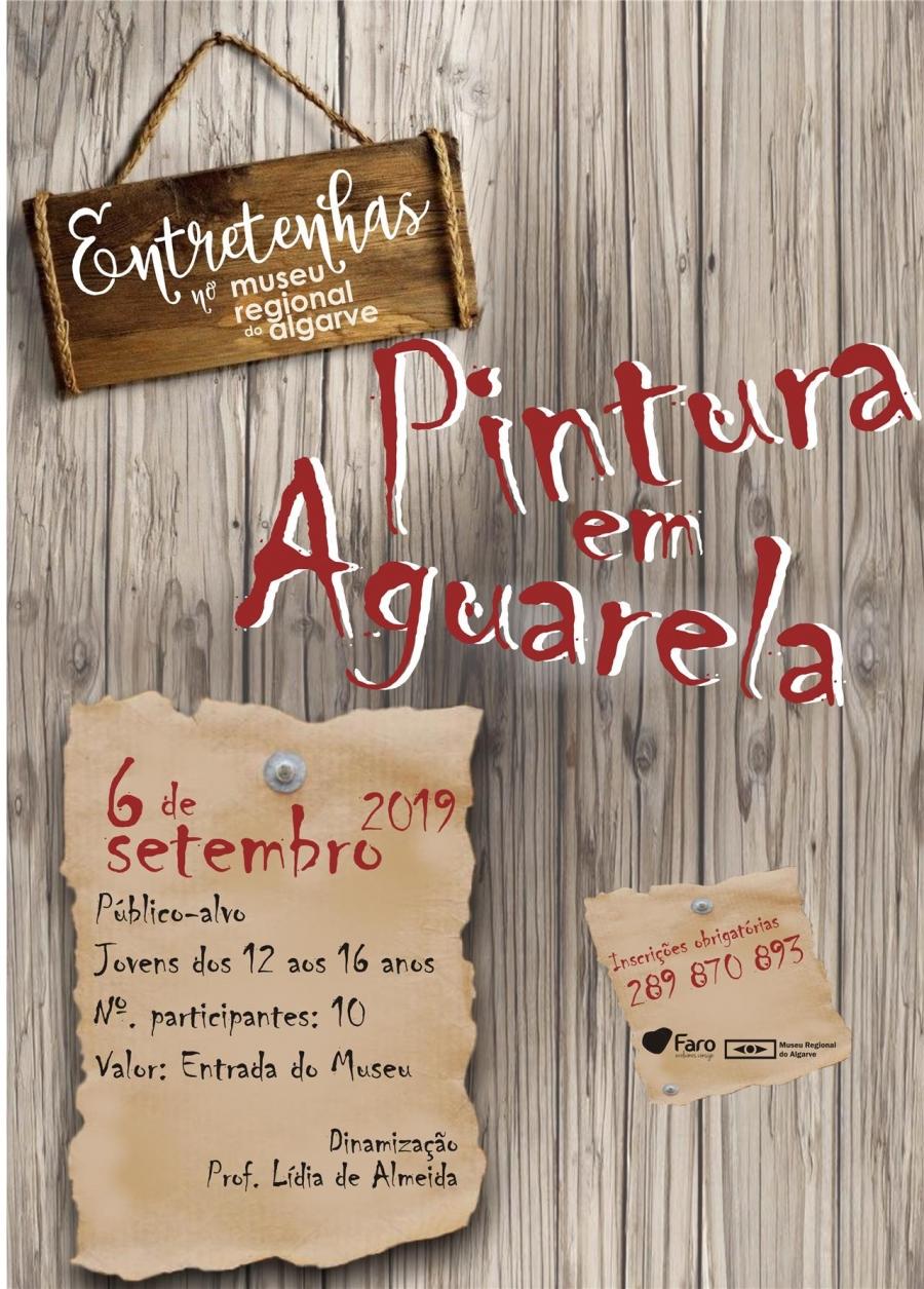 Entretenhas no Museu Regional do Algarve - Pintura em Aguarela
