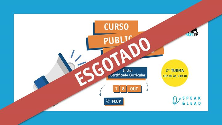 Curso Public Speaking - FCUP - Esgotado
