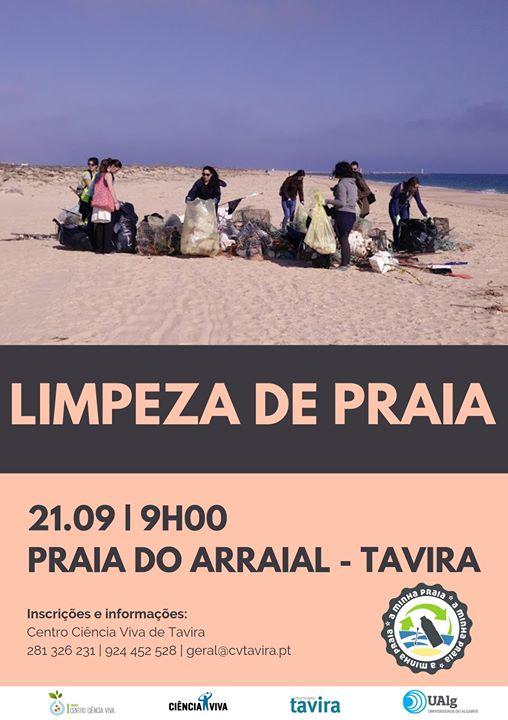 Limpeza da Praia do Arraial - Tavira