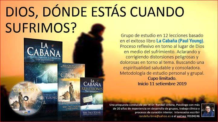 """CURSO ANÁLISIS DE LA NOVELA """"La Cabaña"""" de Paul Young"""