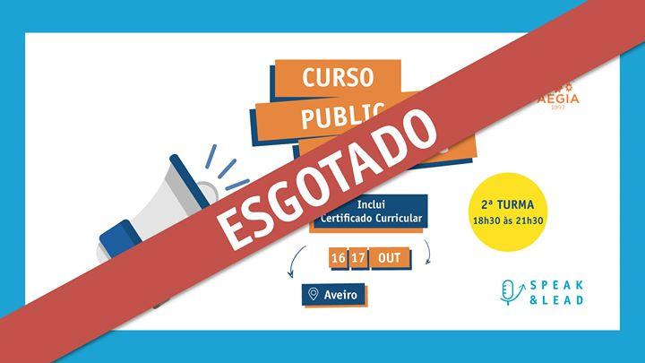 Curso Public Speaking - Aveiro - Esgotado