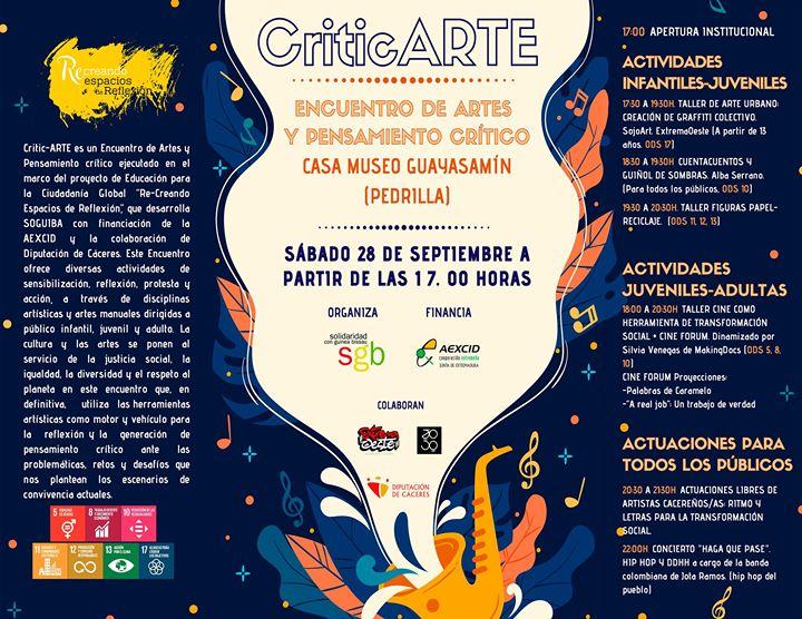 CriticARTE. Encuentro de Artes y Pensamiento Crítico