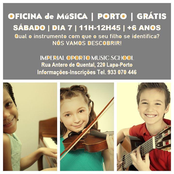 Oficina de Música + 6 anos - Grátis - Porto