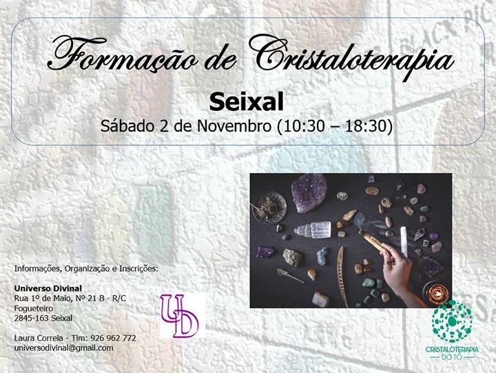 Seixal | CURSO Formação de Cristaloterapia - Universo Divinal