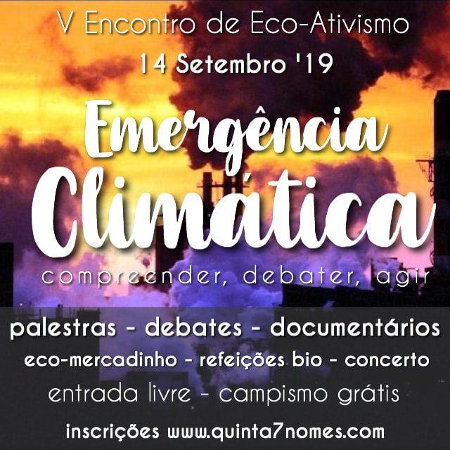 V Encontro de Eco-Ativismo - Emergência Climática