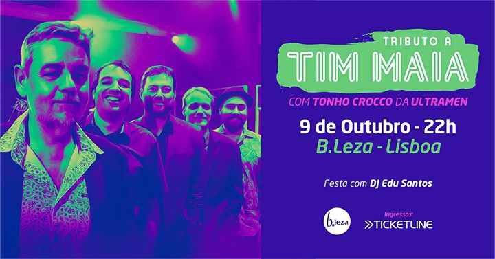 Tributo a Tim Maia em Lisboa - Sold Out