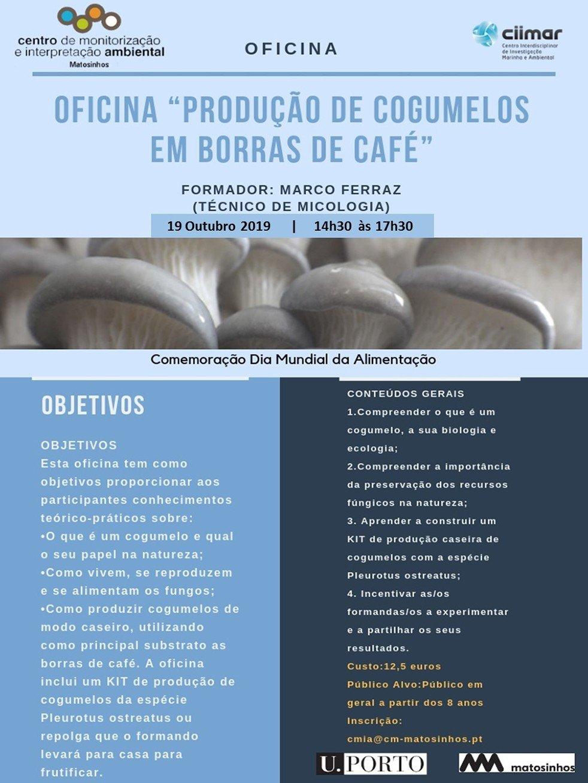 Produção de Cogumelos em Borras de Café
