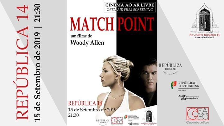 Há Cinema na República - Match Point um filme de Woody Allen