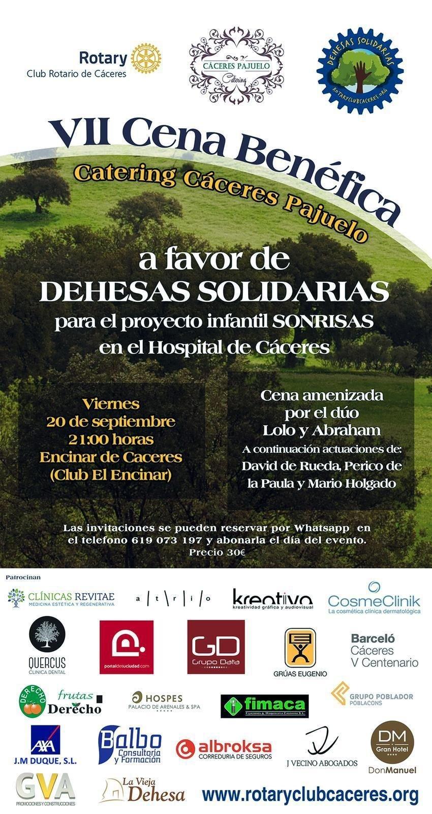 VII Cena Benéfica a favor de Dehesas Solidarias
