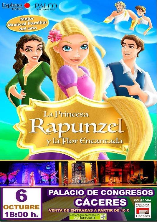 La Princesa Rapunzel y la Flor Encantada