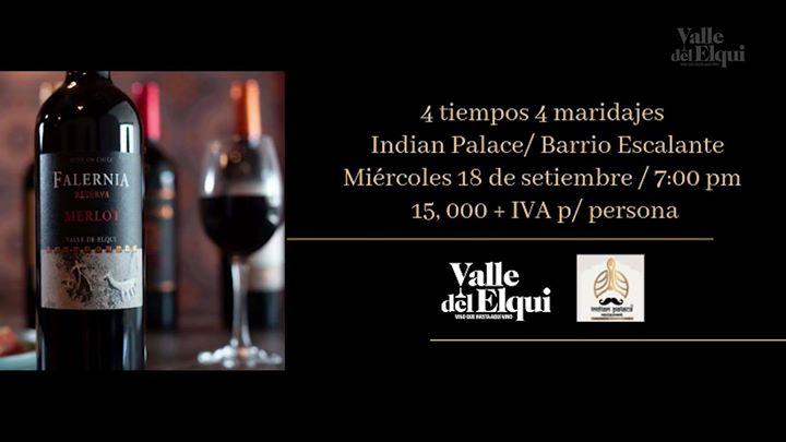 Cata de vinos con comida india