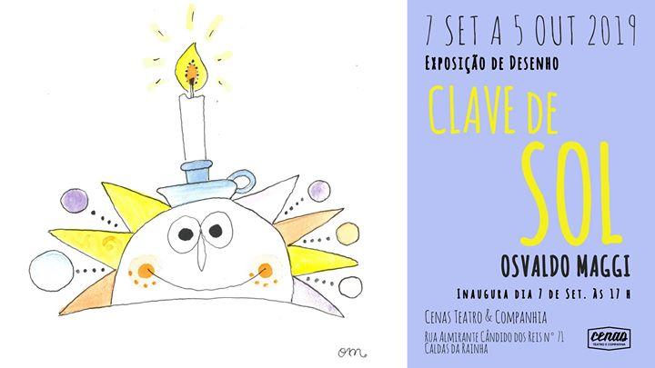 Exposição de desenho 'Clave de Sol' de Osvaldo Maggi