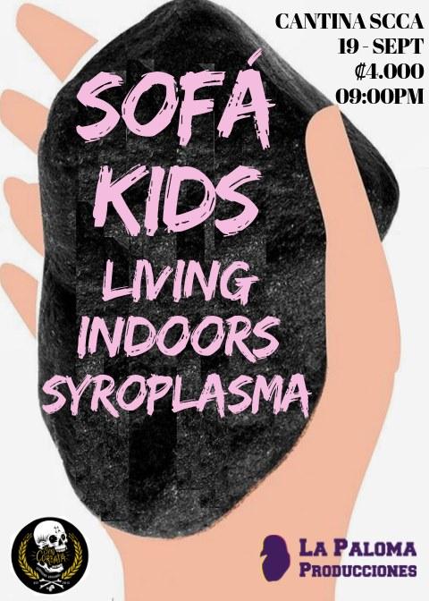 Syroplasma, Living Indoors y Sofá Kids en Cantina SCCA | SJO