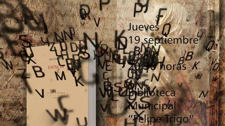 Jueves Literario 'Esencia' de Efi Cubero