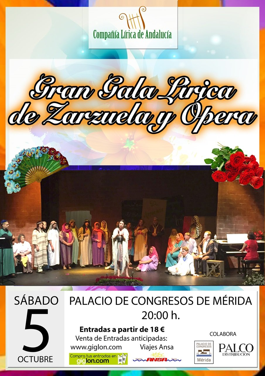 Gran Gala Lírica de Zarzuela y Ópera (APLAZADO)