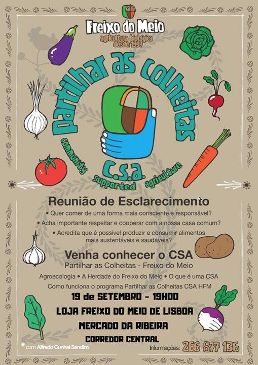 Venha conhecer o CSA Freixo do Meio - Conversa Loja Lisboa