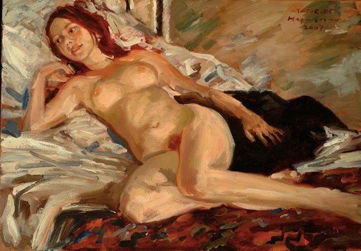 Pintura com modelo nu por Edwin Hagendoorn - Sextas-feiras 14h