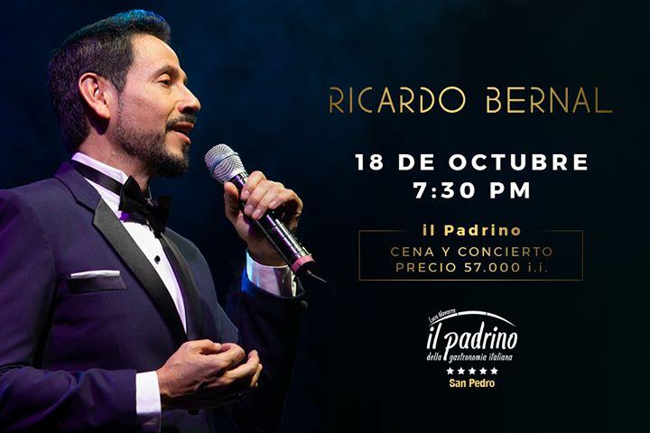 Cena y Concierto con Ricardo Bernal- Tenor