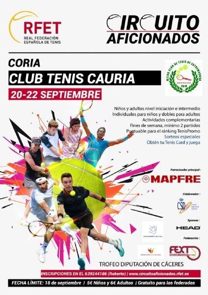 III Trofeo de Tenis Diputación de Cáceres de la Ciudad de Coria