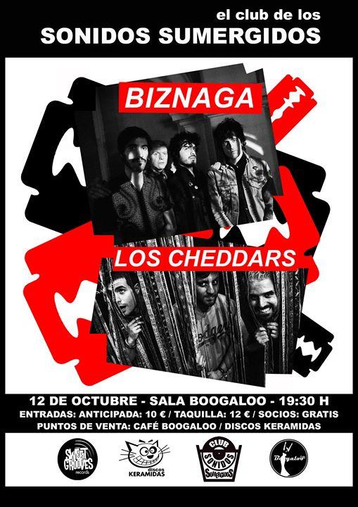 Biznaga + Los Cheddars Concierto en Boogaloo Cáceres