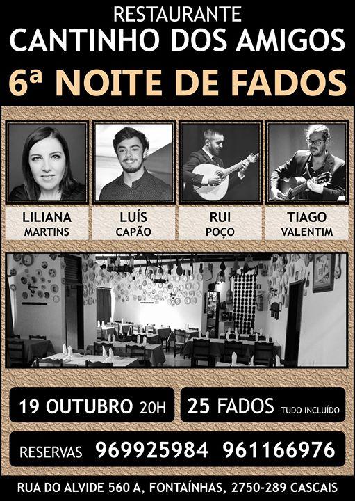 6ª Noite de Fados no 'Cantinho dos Amigos'