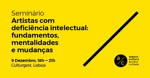 Seminário 'Artistas com deficiência intelectual'