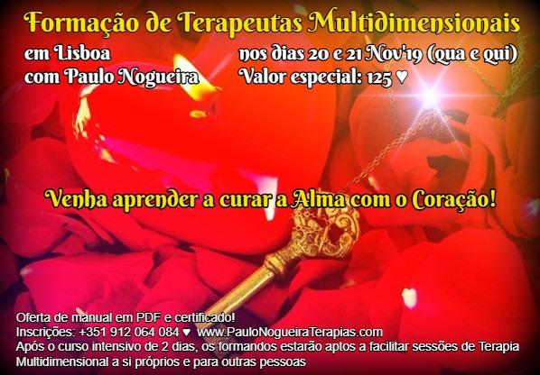 Curso de Terapia Multidimensional em Lisboa em Nov'19 à semana