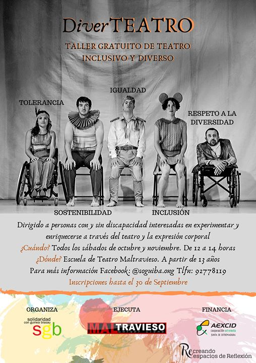 DiverTEATRO. Taller Gratuito de Teatro Inclusivo y Diverso.