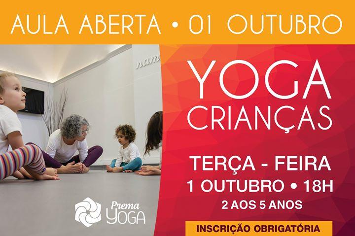 Yoga para Crianças - Aula Aberta