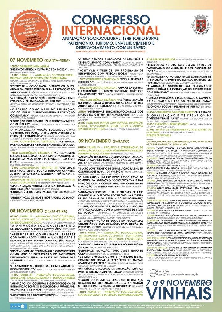 Congresso Internacional, Animação Sociocultural, Território Rural, ...
