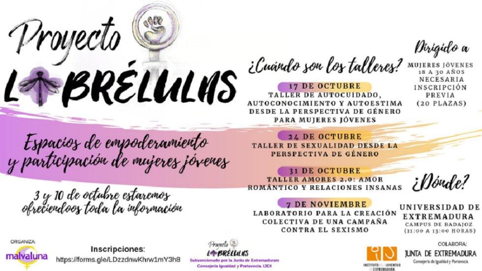 Talleres Proyecto Librélulas | 7 de Noviembre